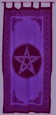 Curtain Pentacle Purple and Black Pagan Wiccan Wall Hanging #CT24PL