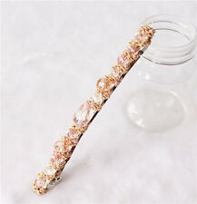 New Women Fashion Exquisite Crystal Rhinestone Barrette Hair Clip Hair Accessory