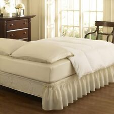 Easy Fit Ruffled Solid Bed Skirt, Twin/Full, Ivory