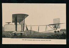Aviation New GRAHAME WHITE Military Biplane with gun pre1914 PPC by Drew
