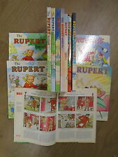 12 ENCHANTING RUPERT ANNUALS by DAILY EXPRESS * UK FREE POST * H/B *