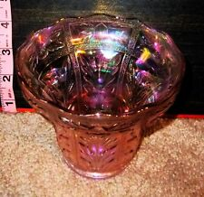 Vintage Lenox Pink Carnival Glass Bowl / Dish / Candy Bowl / Pot