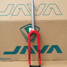 "Red Carbon Rigid Fork 26"" 27.5"" 29"" Mountain Bike Straight Forks Disc Brake JAVA"