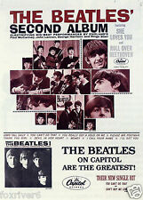 THE BEATLES US Album Window Poster - The Second Album on Capitol 1964 reprint