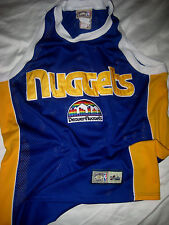DENVER NUGGETS CLASSICS SEWN PATCH RAINBOW CITY JERSEY-ALL SEWN- L