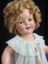 VINTAGE antique 1937 IDEAL composition SHIRLEY TEMPLE DOLL original DRESS wig 18