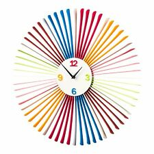 58cm New Spoke Retro Modern Acrylic Multi Coloured Quartz Extra Large Wall Clock