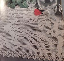 1991 Magic Crochet Doilies Table Covers Barbie Doll Kitty Cat Peacock Horses