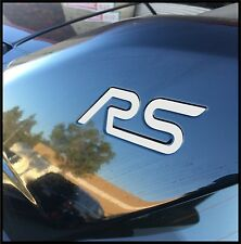 Ford Focus RS reflective white inlay decal for wing (2 per order)