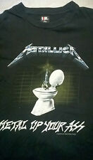 Vintage Metallica 1994 Metal Up Your Ass Shirt Electric Chair Giant Size XL