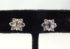 Beautiful 14K Yellow Gold and Spinel Pierced Stud Earrings * S