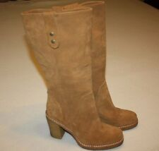 "UGG Australia ""Josie"" Light Brown Suede Tall Boots w/ Heel Women 7, EUC (# 3214)"