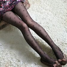 Black Sexy Woman Bow-knot Jacquard Pantyhose Tights Stockings (D-344)