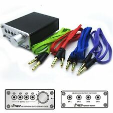4 Way Audio Signal Input Output Switcher A985 Digital Multi-Channel Headphone