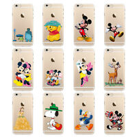Cute Disney Cartoon Pattern Hard Back Cover Case For iPhone 5 5S 5C 6 & 6 Plus