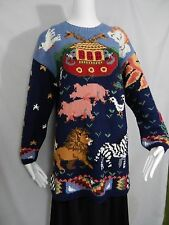 Noah's Ark HandKnitted Sweater Womens Sz L Signatures By Northern Isles