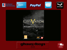 Sid Meier's Civilization V Scrambled Continents Map Pack Steam Key Pc Game Code