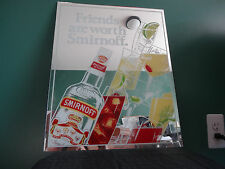 VINTAGE SMIRNOFF 80 PROOF VODKA FRIENDS ARE WORTH SMIRNOFF BEER BAR MIRROR