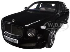 2014 BENTLEY MULSANNE SPEED ONYX BLACK 1/18 DIECAST CAR MODEL BY KYOSHO 08910