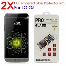 2pcs HD Premium Screen Protector Guard Tempered Glass Protective Film For LG G5