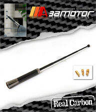 Universal Extendable Real Carbon Fiber / Black Chrome Window Roof Top Antenna