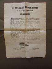 Grida Governo Provvisorio Modena Reggio Prestito Fucili Caccia 1848 Risorgimento