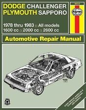 Dodge Challenger & Plymouth Sapporo Owners Workshop Manual; 1978 - 1983 All Mode