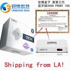 2017最新安博盒子蓝牙版 Unblock Tech Gen3 S900 ProBT Bluetooth TV Box 中国 香港 台湾 日本 韩国 成人等频道