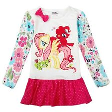 My Little Pony girls flower cotton printed dress / top NEW 2016 3-4 years 104 cm