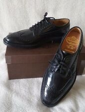 Church's Grafton Wingtip Brogue Black 7F UK  8M US Leather Custom Grade Derby