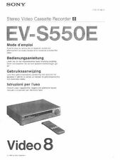 Anleitung / Manual NL for SONY EV-S550E Video 8