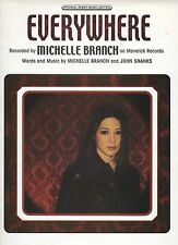 Michelle Branch Everywhere (framed cover)  US Sheet Music
