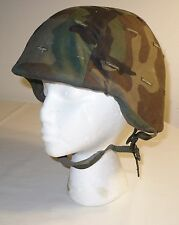 USED ( SIZE M ) MILITARY BALLISTIC HELMET NSN 8470 01 092 7527 with CAMMO COVER