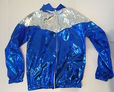 Shiny Nylon Vintage Sport Wet Look L cal Surf 90s Retro ibiza pvc sexy jacket