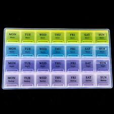 Weekly 28 Days Tablet Pill Box Holder Medicine Storage Organizer Case Container