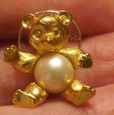 Trifari Bear Jellly Belly Pin with Flex Pearl Jewelry