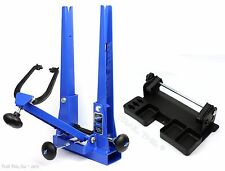 Park Tool TS-2.2P Blue Pro Bike Wheel Truing Stand + TSB-2 Tilting Base Set