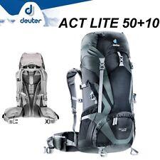 DEUTER ACT LITE 50+10 Rucksack da Trekking Bergsteigen Viaggio Leicht Nero