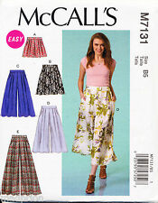 ©2015 MCCALL'S SEWING PATTERN 7131 MISSES 8-16 CULOTTES, WIDE LEG PANTS & SHORTS