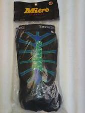 Mitre Mens Shinguards with Ankle Support Size Medium Black/green-blue Brand New