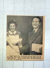 1949 Singer Donald Peers Shaking Hands With Nurse London Clinic  Tonsils out