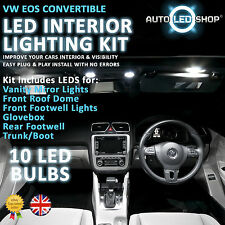 VW EOS CONVERTIBLE WHITE LED INTERIOR LIGHT SET BULBS XENON SMD