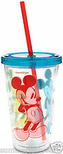 MICKEY MOUSE SUMMER FUN TUMBLER WITH LID AND STRAW ~ DISNEY STORE ~ NEW!