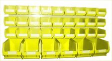 NEW PLASTIC PARTS STORAGE BIN KIT BK62 YELLOW - 27xTC2 & 6xTC3 & LOUVRE PANEL