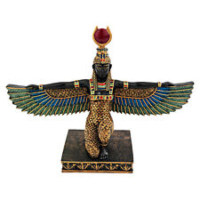 Egyptian Goddess Protector of Children Queen Isis Wings Spread Eye of Ra Statue