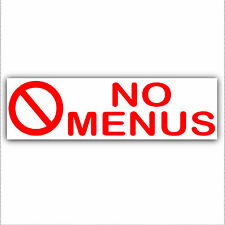 No Menus-Pizza,Kebab,Chips,Chicken Leaflets,Flyers-Letterbox Sticker Door Sign