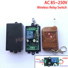AC110V 220V 240V 10A 1CH RF Wireless Remote Control Relay Switch Receiver On/Off