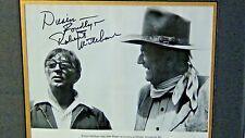 ROBERT MITCHUM & JOHN WAYNE PHOTO PRINT W/ MITCHUM ORIGINAL SIGNATURE DATED 199