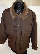 St Johns Bay Men Brown WINTER Jacket Hunting Field PUFFER Snow Ski PARKA Coat L