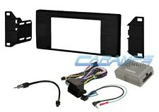 E53 X5 DOUBLE 2 DIN CAR STEREO RADIO DVD/CD PLAYER INSTALL KIT W/ HARNESS & SWC